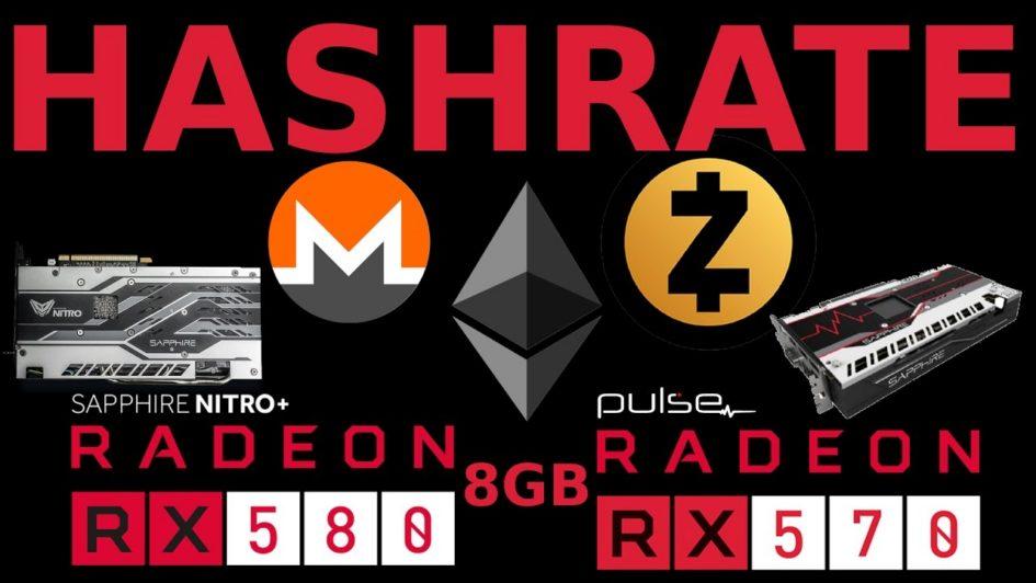 Hashrates: Sapphire Pulse RX570 & Nitro+ RX580 8GB AMD GPU